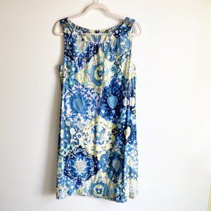 Talbots Printed Sleeveless Shift Sun Dress
